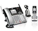 4-LINE SMALL BUSINESS PHONE SYSTEM WITH CORDLESS DESKSETS